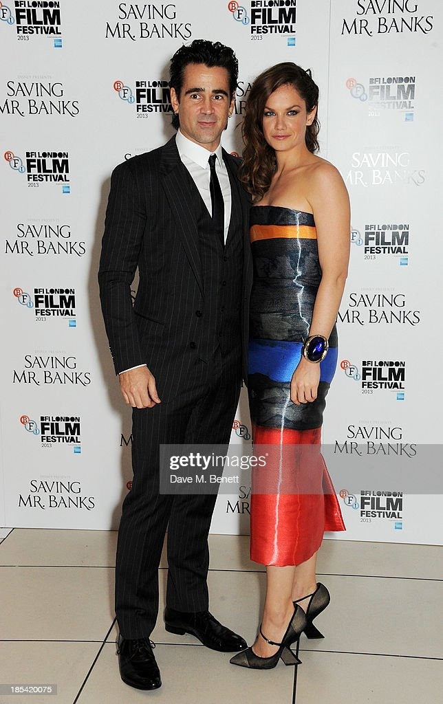 <a gi-track='captionPersonalityLinkClicked' href=/galleries/search?phrase=Colin+Farrell&family=editorial&specificpeople=202154 ng-click='$event.stopPropagation()'>Colin Farrell</a> (L) and <a gi-track='captionPersonalityLinkClicked' href=/galleries/search?phrase=Ruth+Wilson&family=editorial&specificpeople=3111655 ng-click='$event.stopPropagation()'>Ruth Wilson</a> attend the Closing Night Gala European Premiere of 'Saving Mr Banks' during the 57th BFI London Film Festival at Odeon Leicester Square on October 20, 2013 in London, England.
