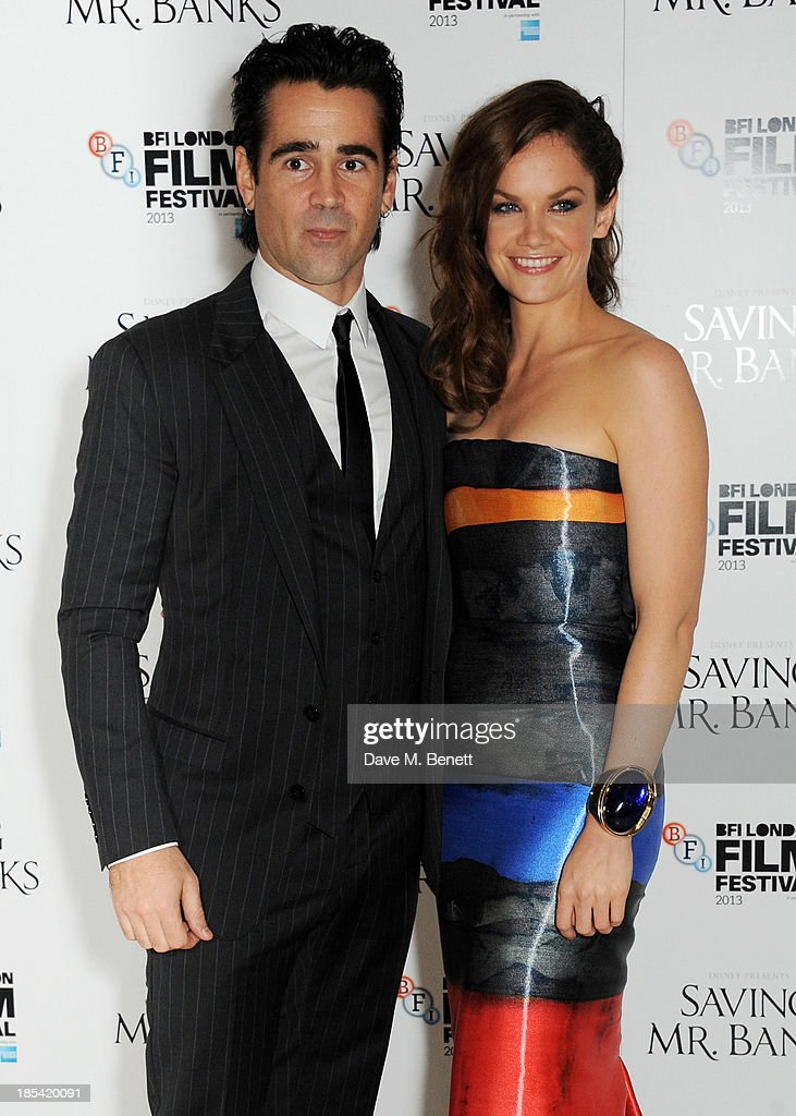 Colin Farrell (L) and Ruth Wilson attend the Closing Night Gala European Premiere of 'Saving Mr Banks' during the 57th BFI London Film Festival at Odeon Leicester Square on October 20, 2013 in London, England.