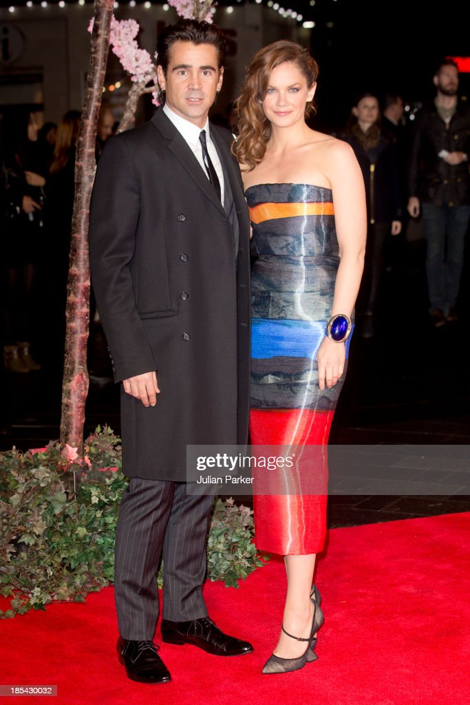 Colin Farrell and Ruth Wilson attend the Closing Night Gala European Premiere of 'Saving Mr Banks' during the 57th BFI London Film Festival at Odeon Leicester Square on October 20, 2013 in London, England.