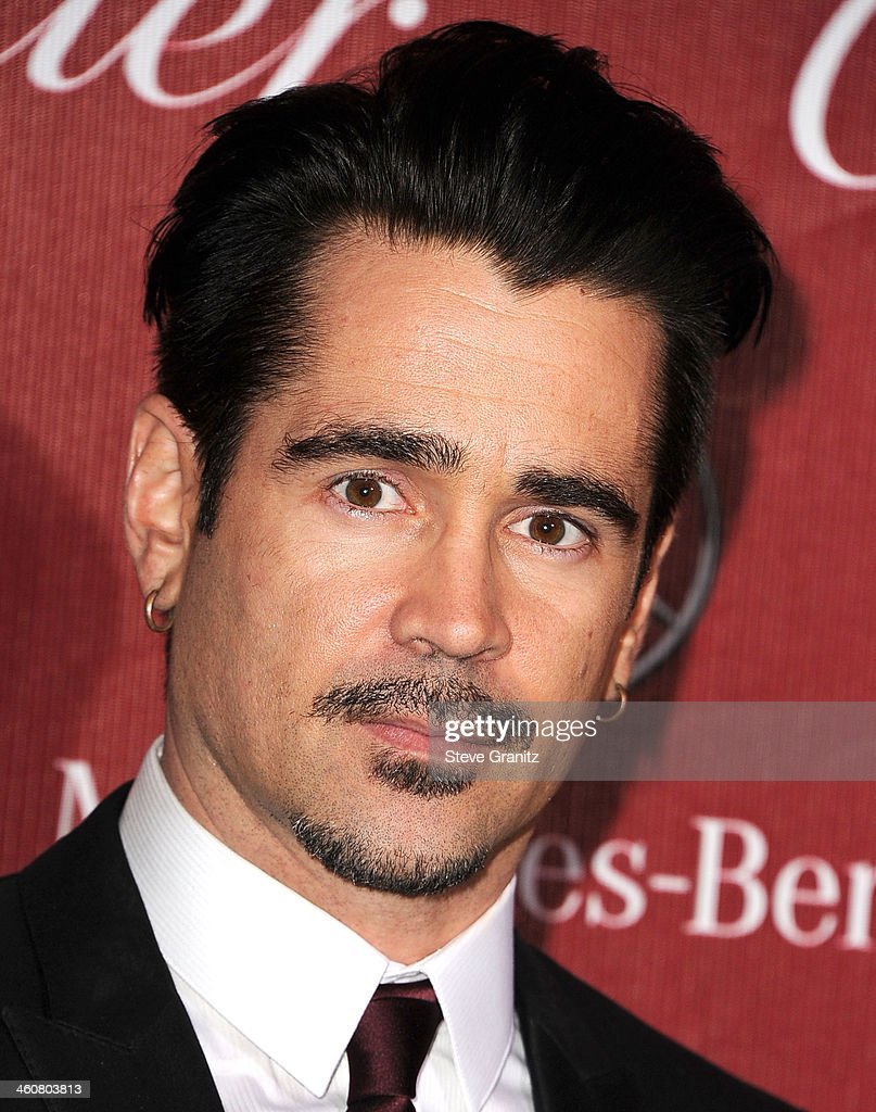 <a gi-track='captionPersonalityLinkClicked' href=/galleries/search?phrase=Colin+Farrell&family=editorial&specificpeople=202154 ng-click='$event.stopPropagation()'>Colin Farrell</a> arrives at the 25th Annual Palm Springs International Film Festival Awards Gala at Palm Springs Convention Center on January 4, 2014 in Palm Springs, California.