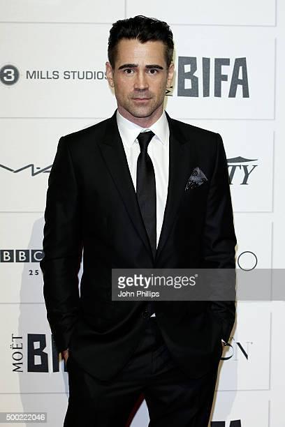 Colin Farrell arrives at The Moet British Independent Film Awards 2015 at Old Billingsgate Market on December 6 2015 in London England