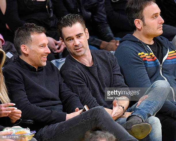 Colin Farrell attends a basketball game between the Portland Trail Blazers and the Los Angeles Lakers at Staples Center on January 10 2017 in Los...