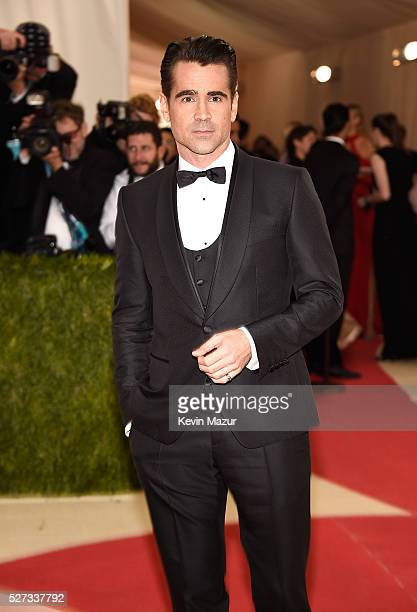 Colin Farrell attends 'Manus x Machina Fashion In An Age Of Technology' Costume Institute Gala at Metropolitan Museum of Art on May 2 2016 in New...