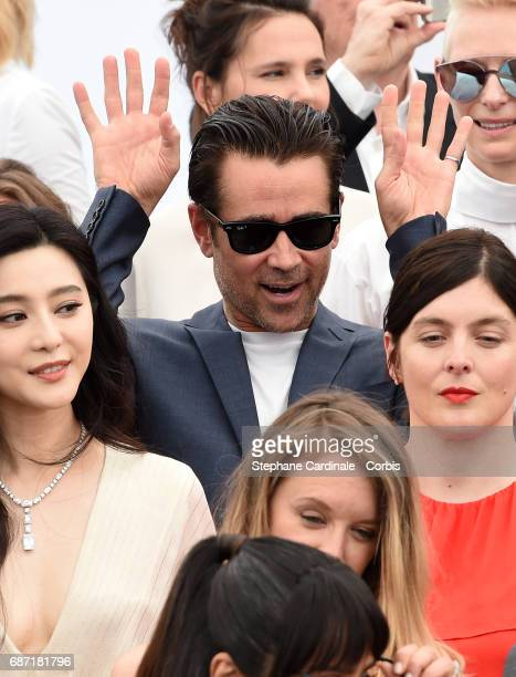 Colin Farrell attends the 70th Anniversary photocall during the 70th annual Cannes Film Festival at Palais des Festivals on May 23 2017 in Cannes...