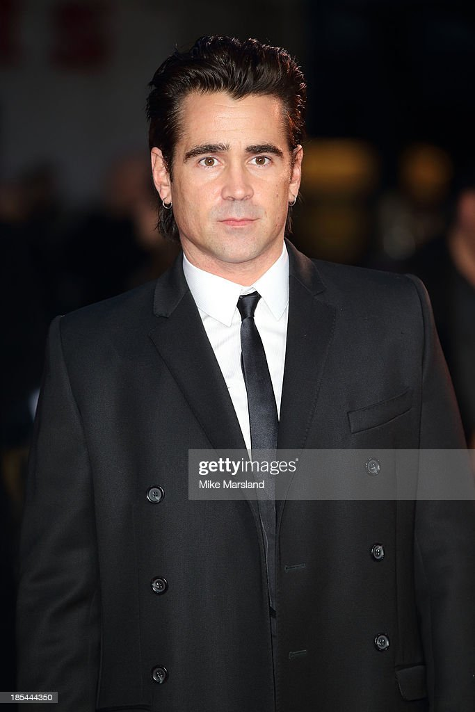 <a gi-track='captionPersonalityLinkClicked' href=/galleries/search?phrase=Colin+Farrell&family=editorial&specificpeople=202154 ng-click='$event.stopPropagation()'>Colin Farrell</a> attends the Closing Night Gala European Premiere of 'Saving Mr Banks' during the 57th BFI London Film Festival at Odeon Leicester Square on October 20, 2013 in London, England.
