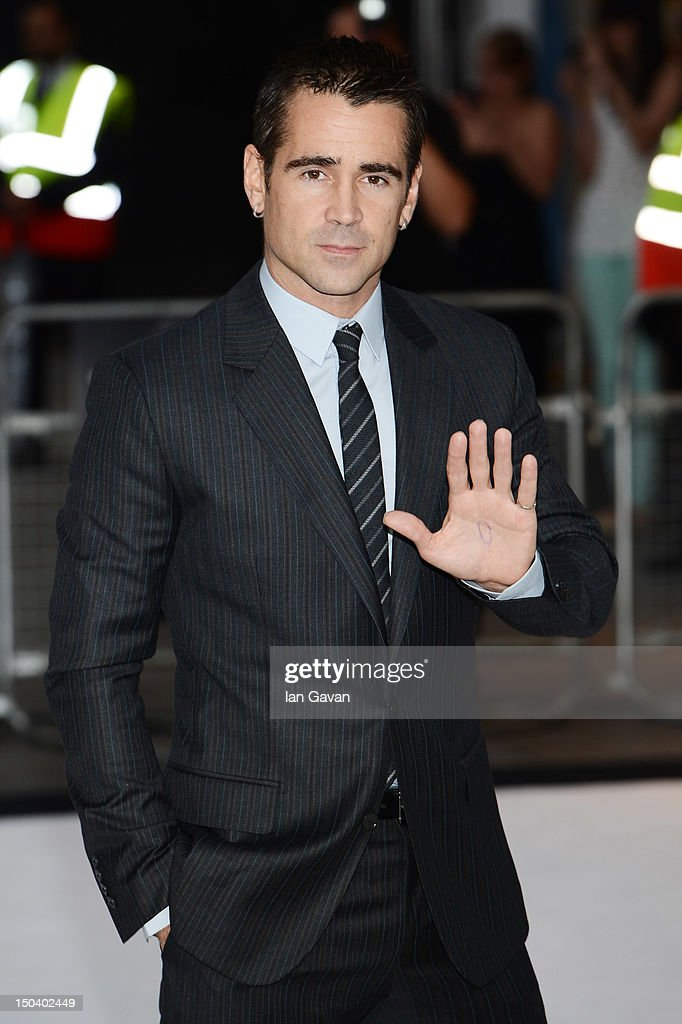 <a gi-track='captionPersonalityLinkClicked' href=/galleries/search?phrase=Colin+Farrell&family=editorial&specificpeople=202154 ng-click='$event.stopPropagation()'>Colin Farrell</a> attends the 'Total Recall' UK premiere at Vue West End on August 16, 2012 in London, England.