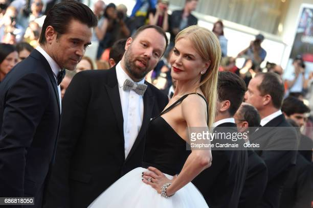 Colin Farrell director Yorgos Lanthimos and Nicole Kidman attends 'The Killing Of A Sacred Deer' premiere during the 70th annual Cannes Film Festival...