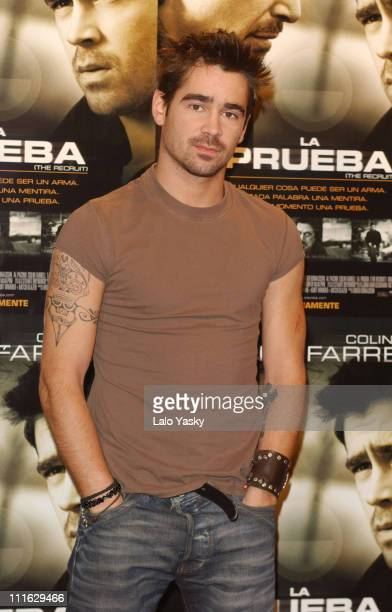 Colin Farrell during Colin Farrell Attends a Promotional Photocall for his New Film 'The Recruit' in Madrid at Palace Hotel in Madrid Spain