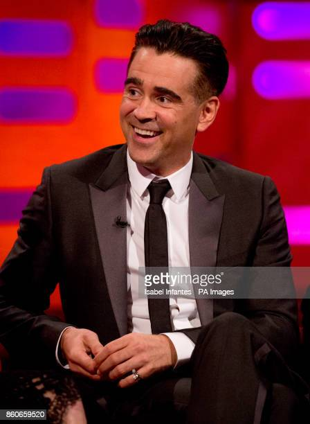 Colin Farrell during filming of the Graham Norton Show at the London Studios to be aired on BBC One on Friday evening