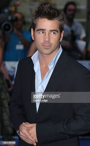 Colin Farrell during 'Miami Vice' London Premiere Outside Arrivals at Odeon Leicester Square in London Great Britain