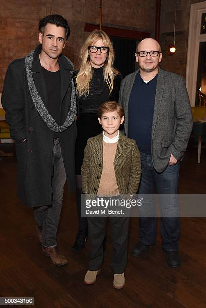 Colin Farrell Edith Bowman Lenny Abrahamson and Jacob Tremblay attend a special AMPAS screening of 'Room' at the Picturehouse Central on December 7...