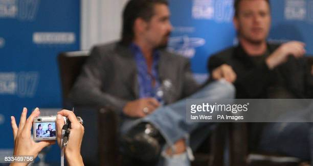 Colin farrell Ewan McGregor are photographed at a press conference for their new film 'Cassandra's Dreams' at the Sutton Hotel during the Toronto...