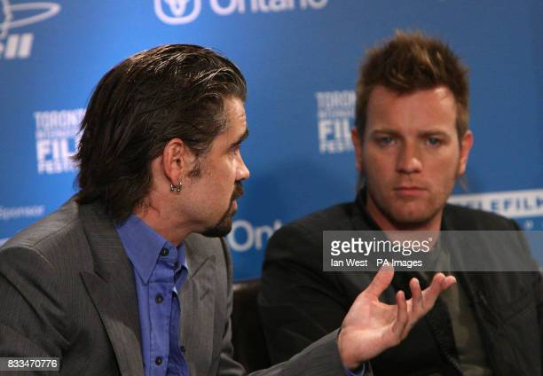 Colin farrell Ewan McGregor at a press conference for their new film 'Cassandra's Dreams' at the Sutton Hotel during the Toronto International Film...