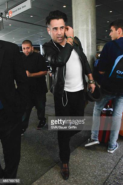 Colin Farrell is seen at LAX on August 29 2015 in Los Angeles California