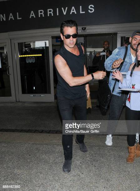 Colin Farrell is seen at LAX on May 25 2017 in Los Angeles California