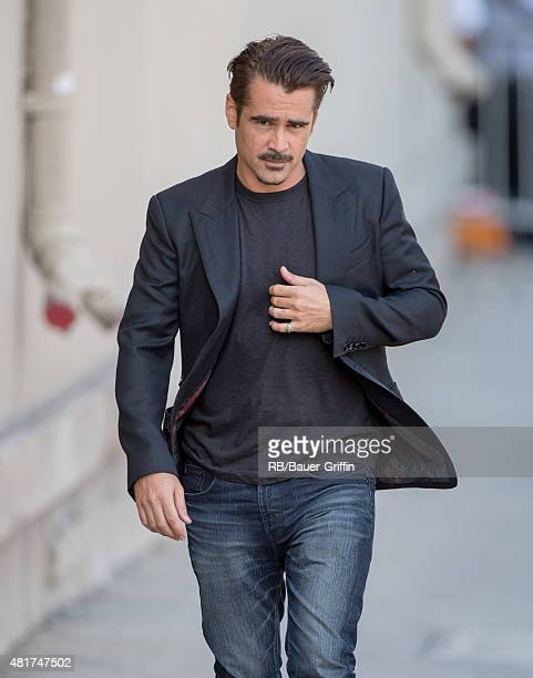 Colin Farrell is seen at the 'Jimmy Kimmel Live' show on July 23 2015 in Los Angeles California