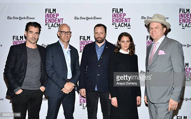Colin Farrell John Horn Yorgos Lanthimos Ariane Labed and John C Reilly attend the Film Independent at LACMA presents 'Lobster' screening and QA on...
