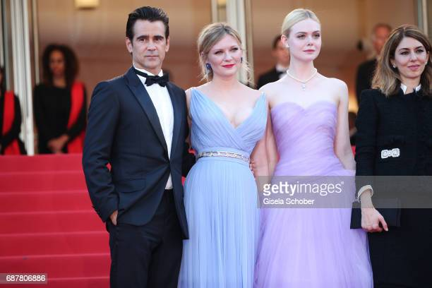 Colin Farrell Kirsten Dunst Elle Fanning and Sofia Coppola attend the 'The Beguiled' screening during the 70th annual Cannes Film Festival at Palais...
