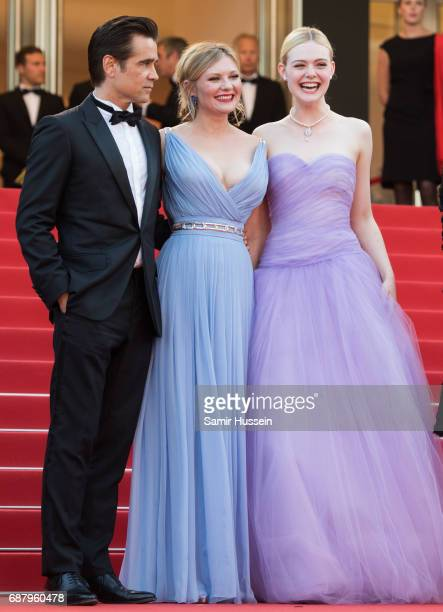 Colin Farrell Kirsten Dunst Elle Fanning attend the 'The Beguiled' screening during the 70th annual Cannes Film Festival at Palais des Festivals on...