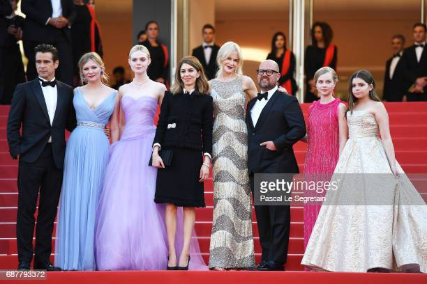 Colin Farrell Kirsten Dunst Elle Fanning director Sofia Coppola Nicole Kidman Youree Henley Angousie Rice and Addison Riecke attend the 'The...
