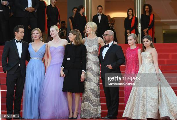 Colin Farrell Kirsten Dunst Elle Fanning Sofia Coppola Nicole Kidman Youree Henley Angousie Rice and Addison Riecke attend the 'The Beguiled'...