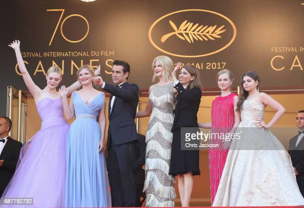 Colin Farrell Kirsten Dunst Elle Fanning Sofia Coppola Nicole Kidman Angousie Rice and Addison Riecke attend the 'The Beguiled' screening during the...