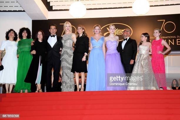 Colin Farrell Nicole Kidman Director Sofia Coppola Kirsten Dunst Elle Fanning producer Youree Henley Addison Riecke and Angousie Rice leave the 'The...