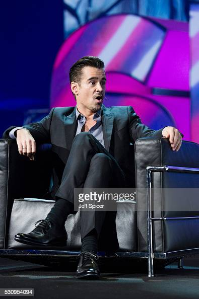 Colin Farrell speaks at Adobe EMEA Summit at ExCel on May 12 2016 in London England