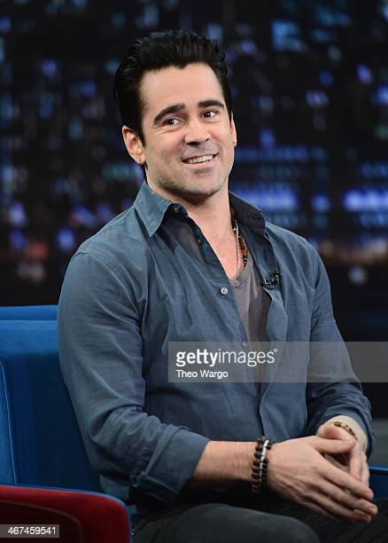 Colin Farrell visits 'Late Night With Jimmy Fallon' at Rockefeller Center on February 6 2014 in New York City