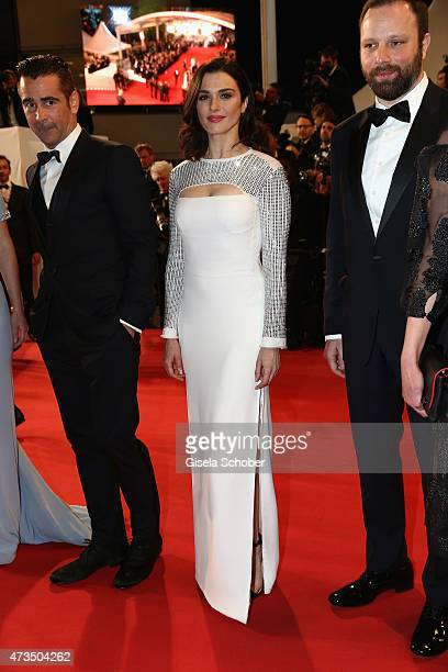 Colin FarrellRachel Weisz and Yorgos Lanthimos attend the Premiere of 'The Lobster' during the 68th annual Cannes Film Festival on May 15 2015 in...