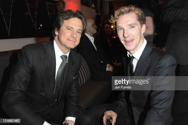 Colin Firth and Benedict Cumberbatch attend the ' Tinker Tailor Soldier Spy' UK premiere after party on September 13 2011 in London England