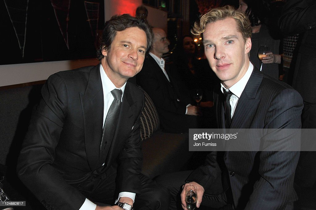 Colin Firth and Benedict Cumberbatch attend the ' Tinker, Tailor, Soldier, Spy' UK premiere after party on September 13, 2011 in London, England.