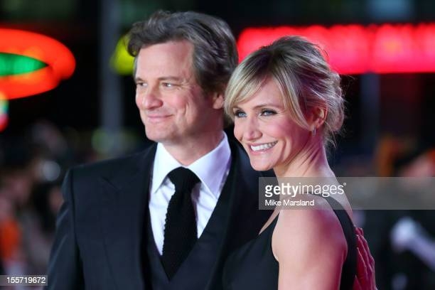 Colin Firth and Cameron Diaz attend the World Premiere of Gambit at Empire Leicester Square on November 7 2012 in London England