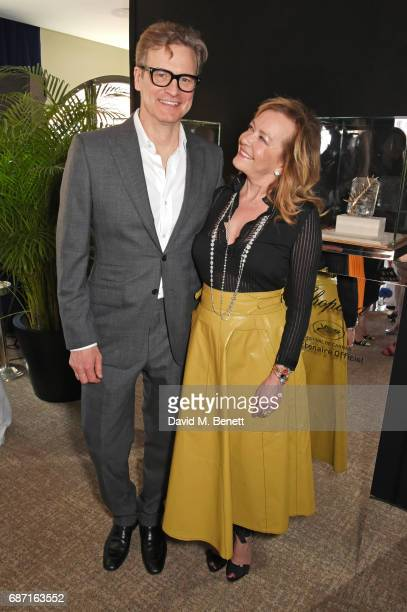 Colin Firth and Caroline Scheufele Artistic Director and CoPresident of Chopard attend a private lunch hosted by Colin Livia Firth and Caroline...