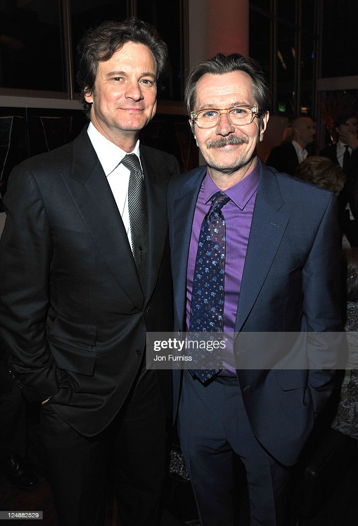 Colin Firth and Gary Oldman attend the ' Tinker, Tailor, Soldier, Spy' UK premiere after party on September 13, 2011 in London, England.