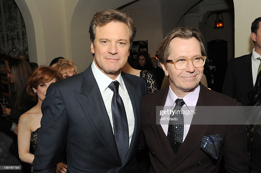 Colin Firth and Gary Oldman attends the after party for the Los Angeles premiere of 'Tinker, Tailor, Soldier, Spy' at ArcLight Cinemas Cinerama Dome on December 6, 2011 in Hollywood, California.