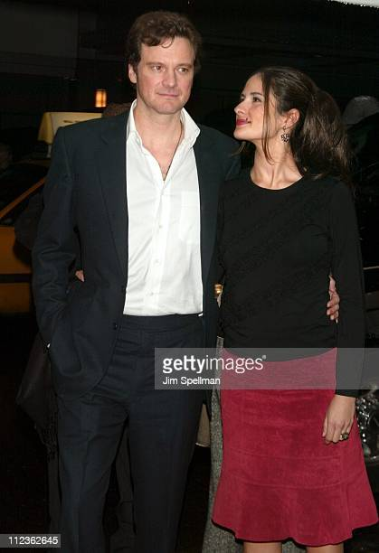 Colin Firth and guest during 'Love Actually' New York Premiere at Ziegfeld Theatre in New York City New York United States