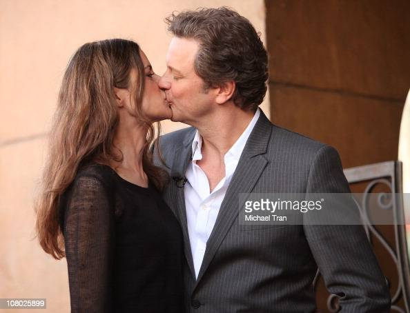 Colin Firth and his wife Livia Giuggioli attend the ceremony honoring him with a Star on The Hollywood Walk of Fame held on January 13 2011 in...