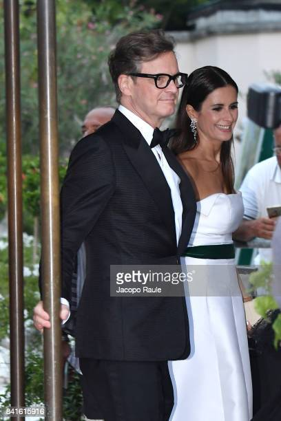 Colin Firth and Livia Firth are seen during the 74 Venice Film Festival on September 1 2017 in Venice Italy