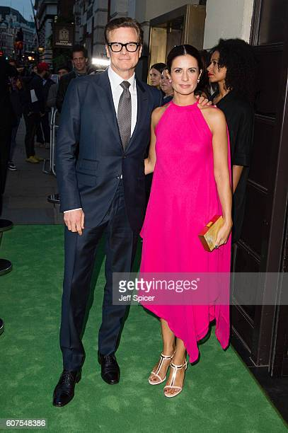 Colin Firth and Livia Firth attend A Green Carpet Challenge BAFTA Night during London Fashion Week Spring/Summer collections 2017 on September 18...
