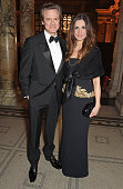Colin Firth and Livia Firth attend the Alexander McQueen Savage Beauty Fashion Gala at the VA presented by American Express and Kering on March 12...