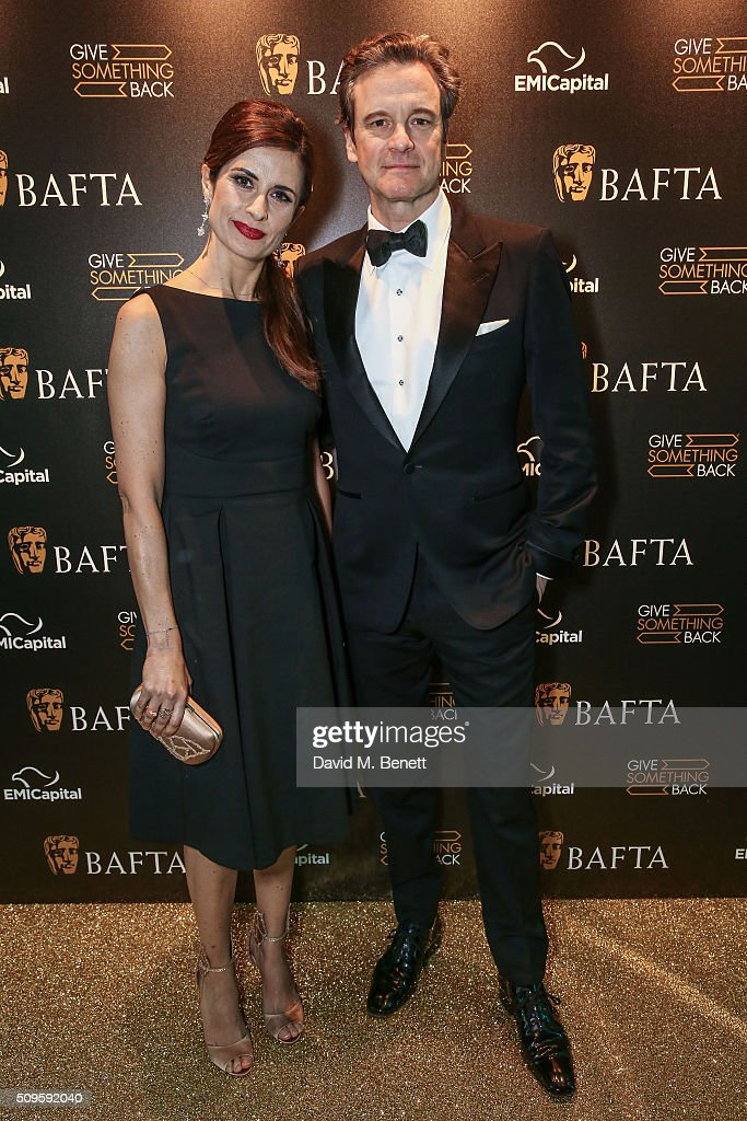 Colin Firth and Livia Firth attend the BAFTA Film Gala in aid of the 'Give Something Back' campaign at BAFTA Piccadilly on February 11, 2016 in London, England.