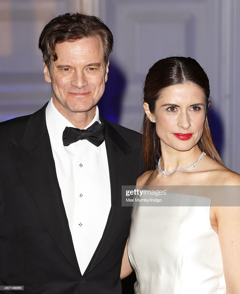 Colin Firth and Livia Firth attend the Centrepoint Winter Whites Gala at Kensington Palace on November 26, 2013 in London, England.
