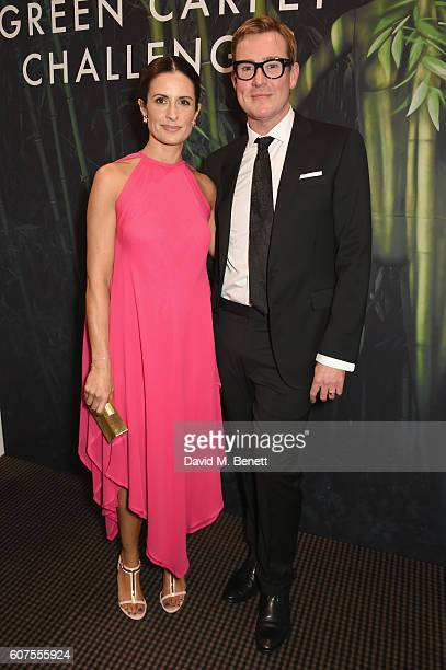 Colin Firth and Livia Firth attend the Green Carpet Challenge 2016 BAFTA Night to Remember on September 18 2016 in London England