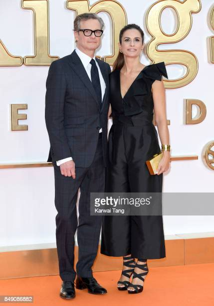 Colin Firth and Livia Firth attend the 'Kingsman The Golden Circle' World Premiere at Odeon Leicester Square on September 18 2017 in London England