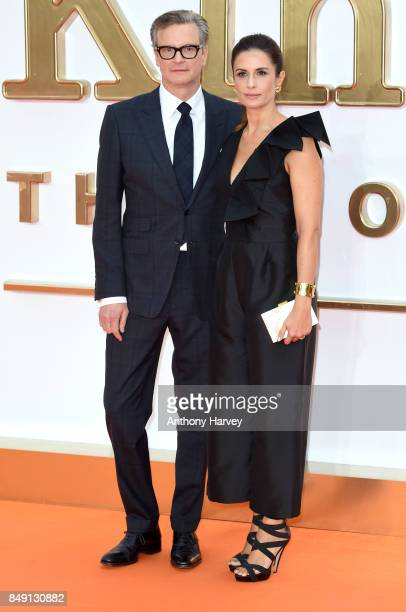 Colin Firth and Livia Firth attend the 'Kingsman The Golden Circle' World Premiere held at Odeon Leicester Square on September 18 2017 in London...