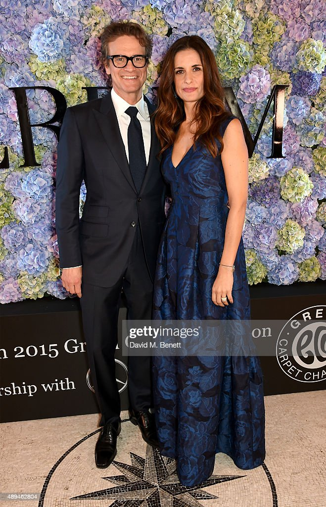 Colin Firth and Livia Firth attend the London 2015 Green Carpet Collection By Erdem in partnership with MercedesBenz at the Wallace Collection on...