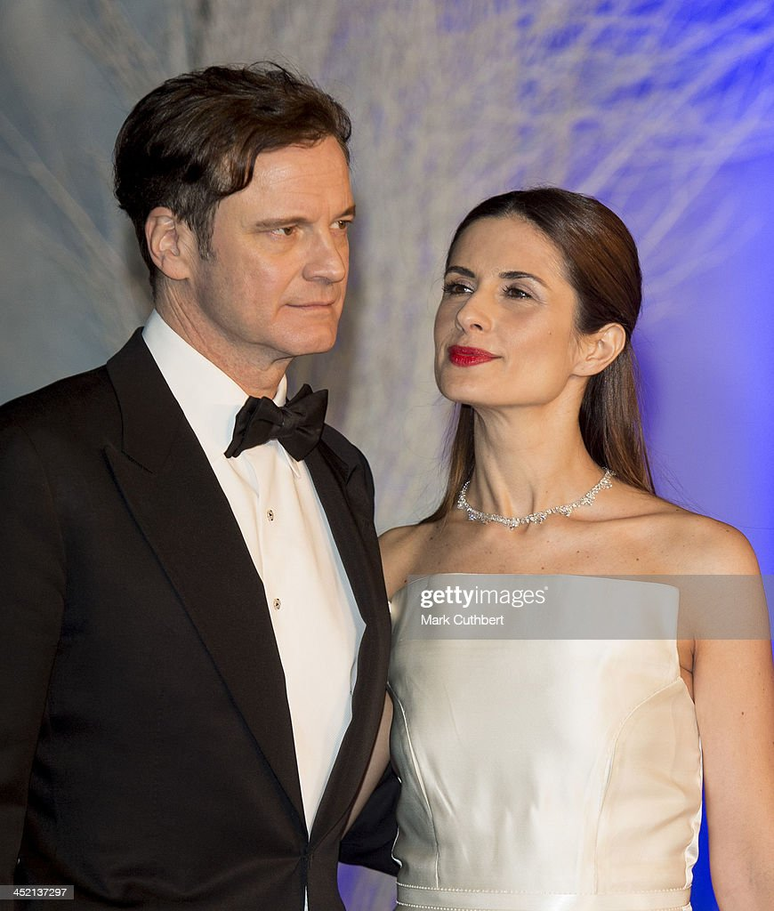 Colin Firth and Livia Firth attend the Winter Whites Gala at Kensington Palace on November 26, 2013 in London, England.