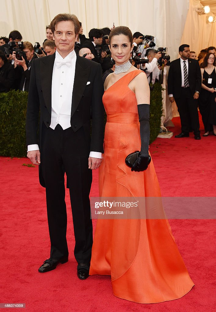 Colin Firth and Livia Giuggioli attend the 'Charles James Beyond Fashion' Costume Institute Gala at the Metropolitan Museum of Art on May 5 2014 in...