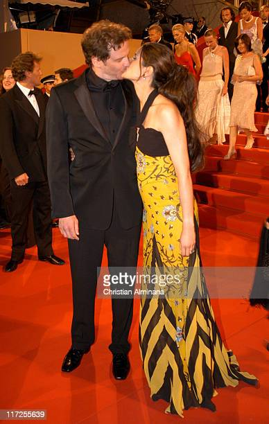 Colin Firth and Livia Giuggioli during 2005 Cannes Film Festival Last Days Premiere at Palais des Festival in Cannes France